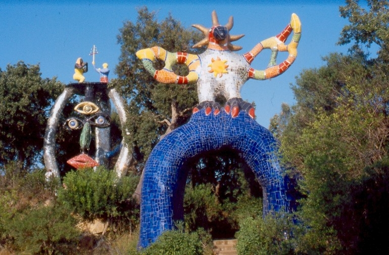 The Tarot Garden in Tuscany, created by the French sculptress Niki de Saint-Phalle.