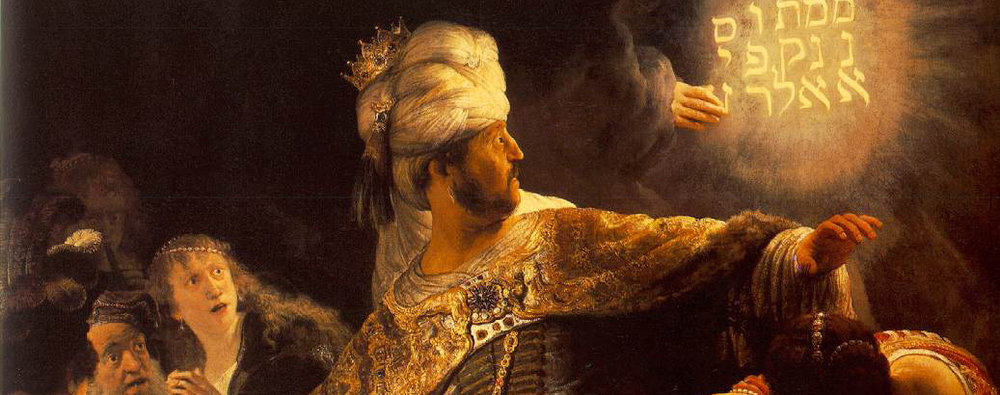 "Rembrandt van Rijn, ""Belshazzar's Feast"" (detail), National Gallery, London"