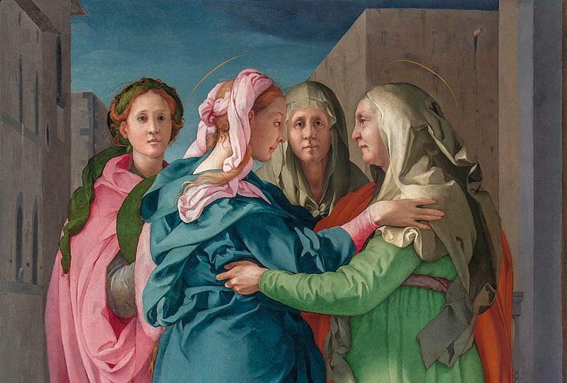 Image: Jacopo Pontormo,  Visitation  (detail), 1528–29, Church of San Francesco e Michele, Carmignano, Italy