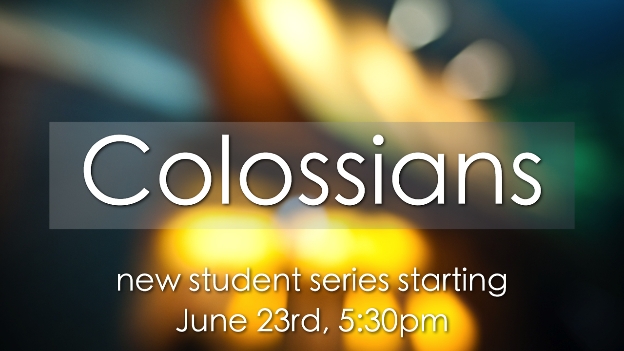 New series starting on June 23rd! Sunday evenings at 5:30.