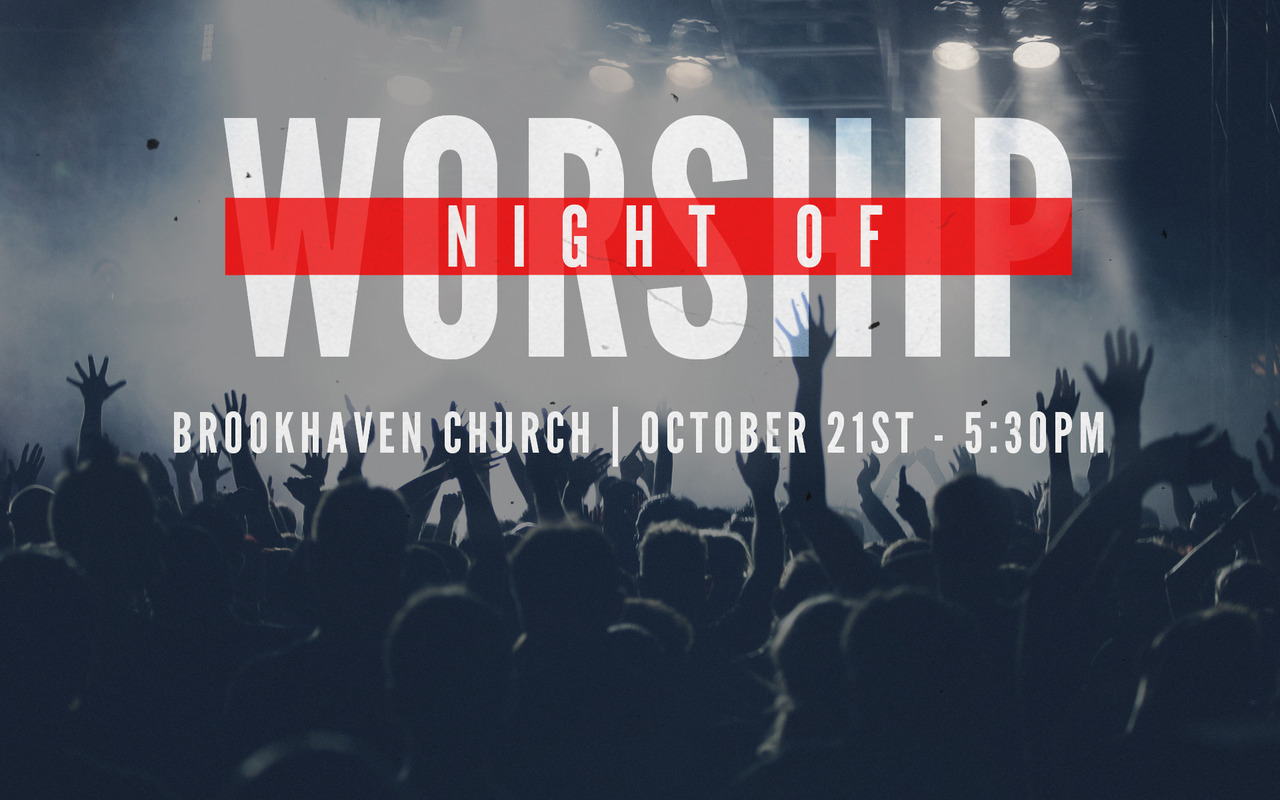 Invite your friends to our night of worship on October 21st! We will be in the main auditorium of the church, and we have an awesome group of people coming to lead us in worship to our God. This is going to be a great night together! We will have some cool prizes for those who bring alot of friends with them…