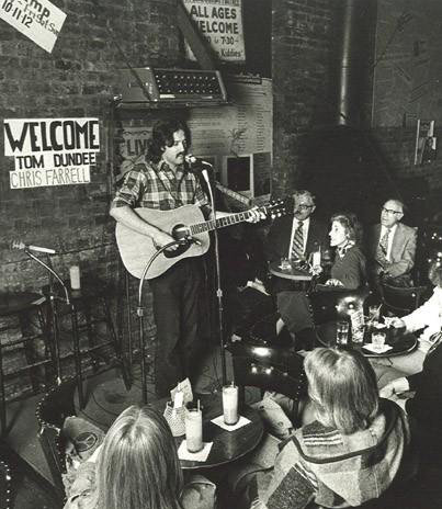 Chris Farrell performing at the Earl of Old Town in 1975.