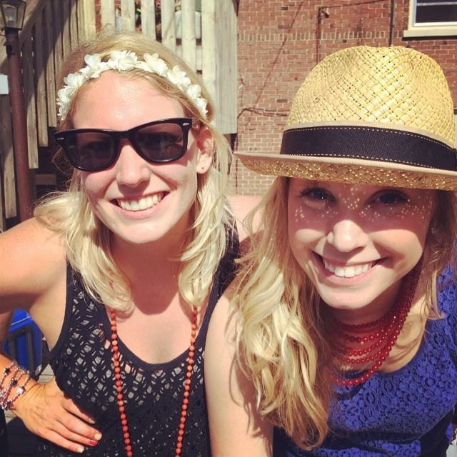 Kelsey (right) with her dearest friend Katie on the 4th.