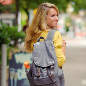 OAK  For every backpack purchased, Oak provides homeless and at risk youth with a backpack in Austin TX or Rwanda.   All Oak products give back to those in need. www.oaklifestyle.com