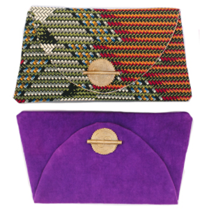 market colors This company makes stunning clutches and messenger bags. Market Colors collaborates with African craftsmen to sell their high-quality, hand-made products.  http://www.marketcolors.org