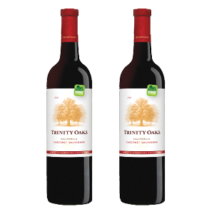 Trinity oaks This company makes a delicious assortment of wines to set the mood for your Valentine's evening. Trinity Oaks has partnered up with Trees for the Future and is committed to plant one tree for every bottle of wine they sell planting over 12 million trees since 2008.  www.trinityoaks.com