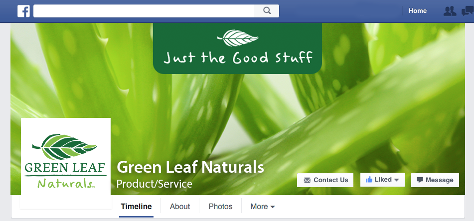 green leaf facebook