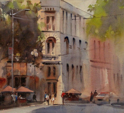 Summer Day in Pioneer Square - Roger Whitlock