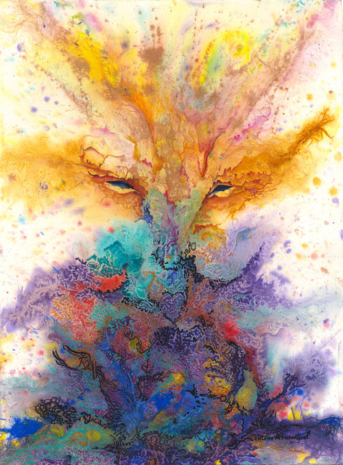 EYES OF AWARENESS ©Patrice Federspiel Watercolor