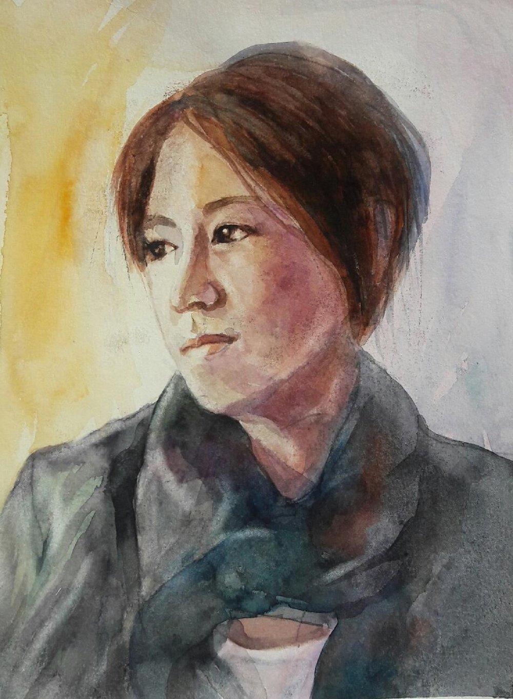 """Mary 12""""x9"""" - Diane Kim"""
