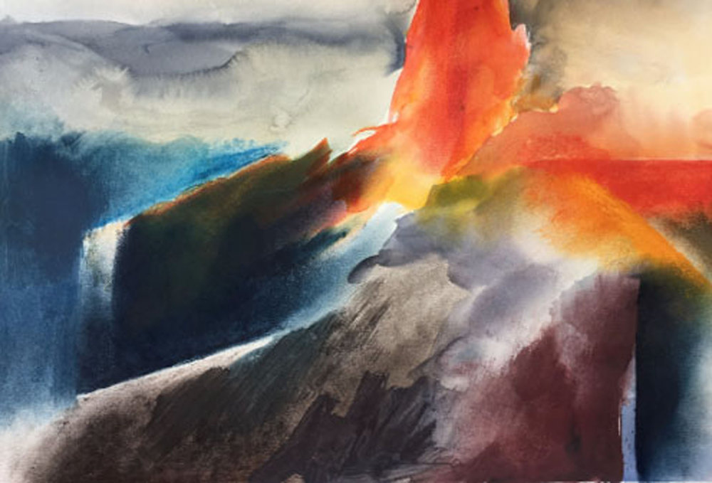 "Eruption 15""x22"" - Arlene Woo"