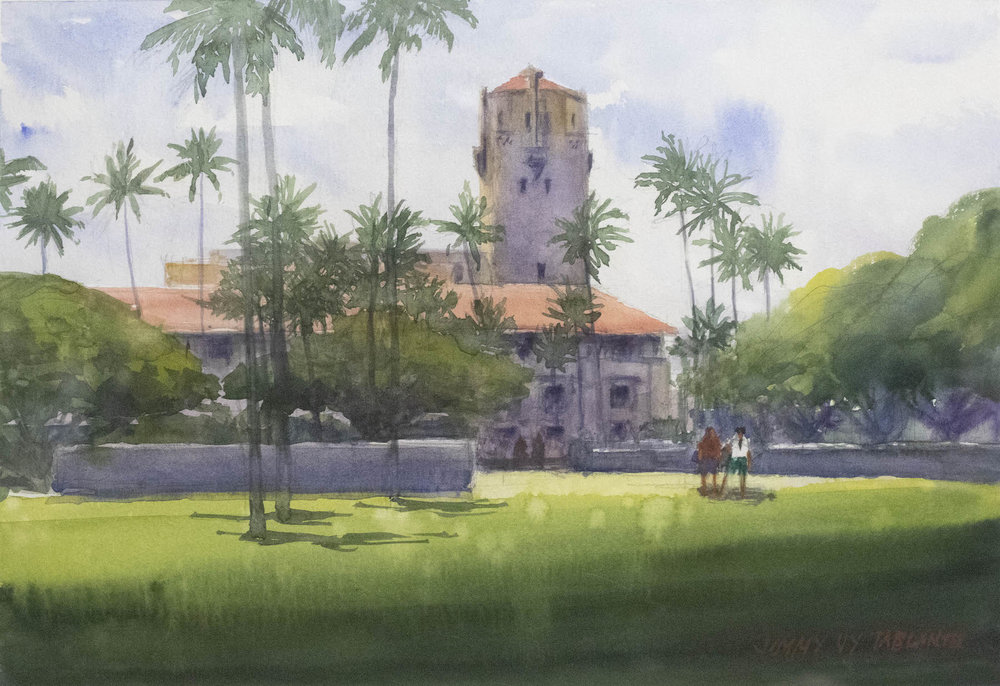 "Honolulu Hale 16""x20"" - Jimmy Tablante"