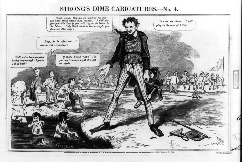 Strong's Dime Caricatures No. 4 [Schoolmaster Abroad] (John H. Goater, 1861)