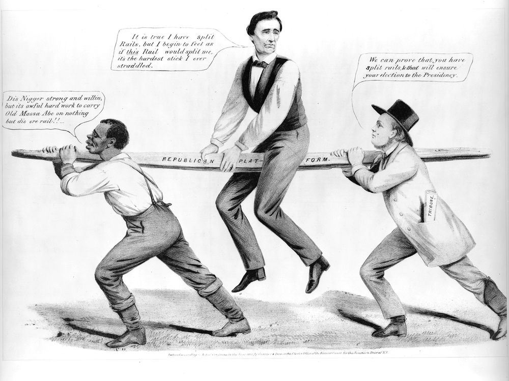 The Rail Candidate (Currier and Ives, 1860)