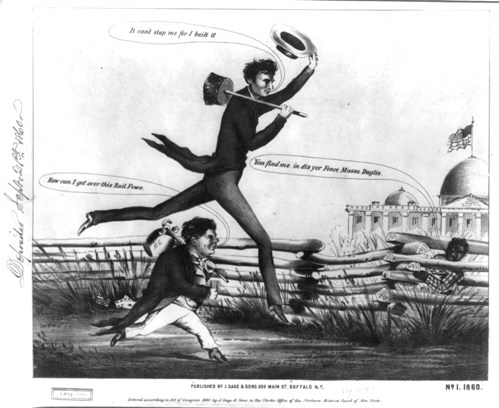 Untitled presidential footrace (J. Sage and Sons, 1860)