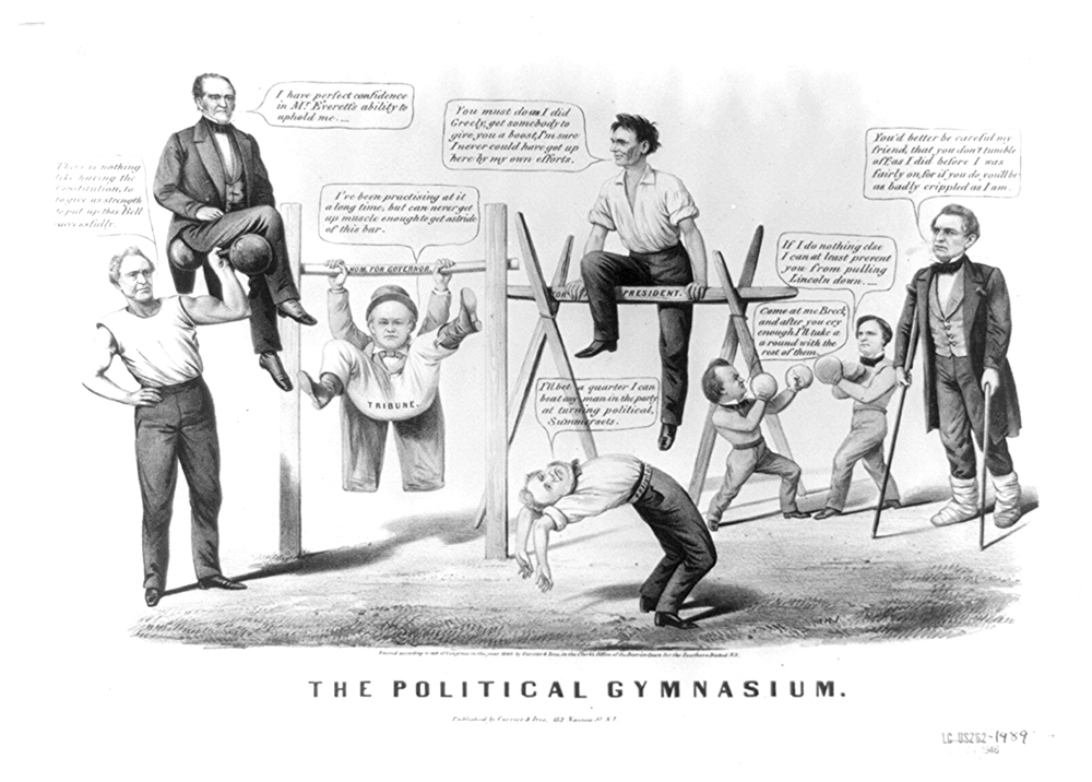 The Political Gymnasium (Currier and Ives, 1860)