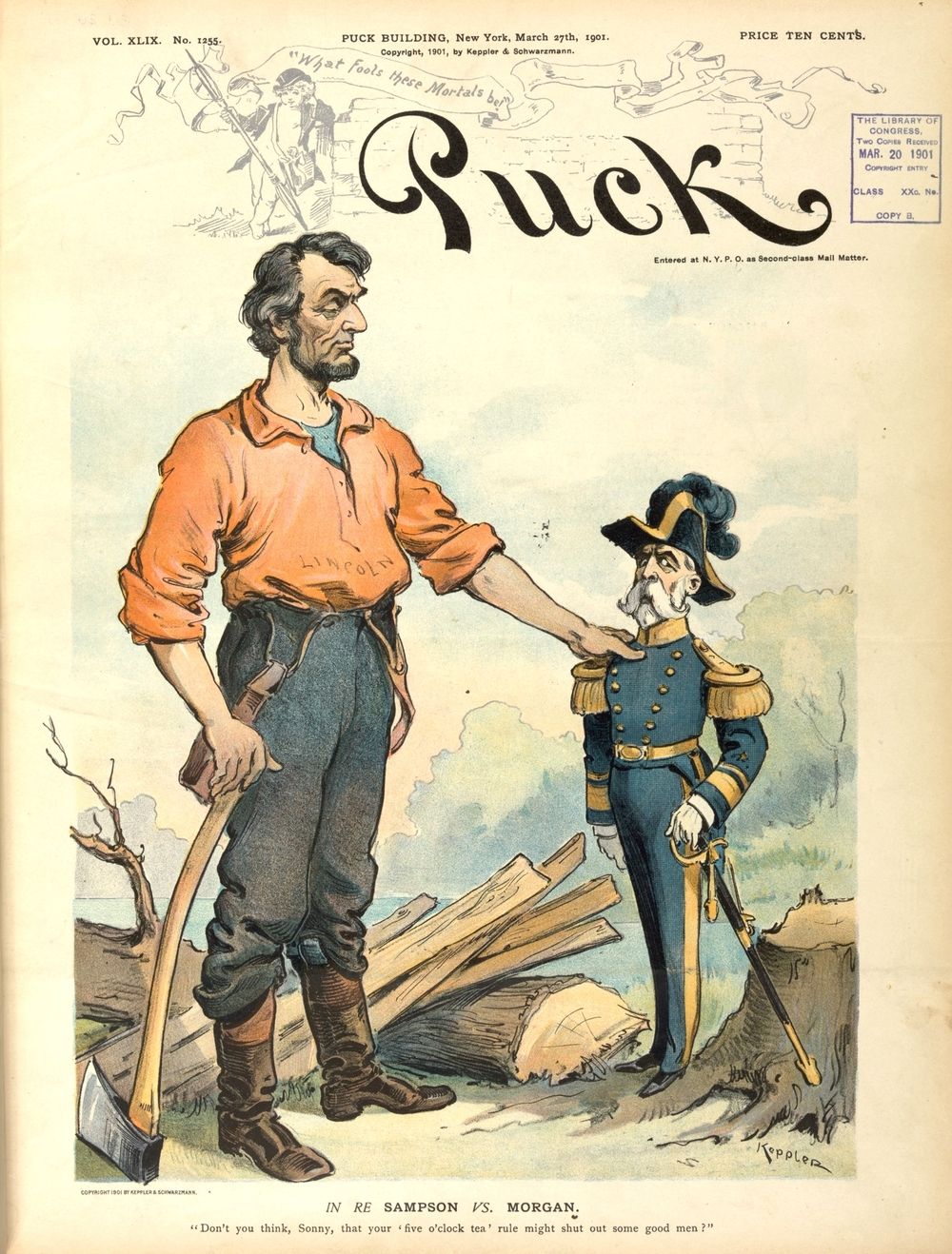 In Re Sampson v. Morgan (Puck Magazine, 1901)