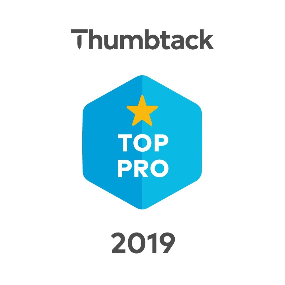I am proud to have won both Thumbtack's Best of 2019, 2016 and 2015 awards thanks to our outstanding reviews.