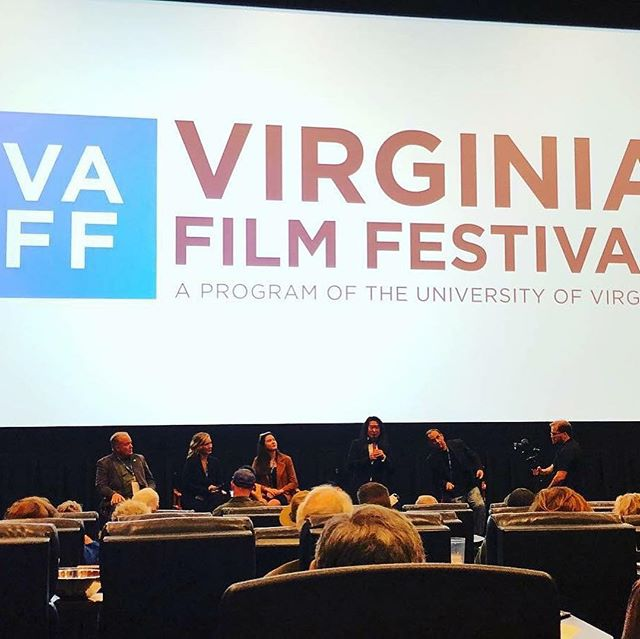 Gift at Virginia film festival! A discussion moderated by Jack Steinberg with Director Sunny Zhao and leading actress Emma Barnett, Sandra Simpson and supporting actor Gordon Bass. In front of a completely sold out crowd! What a amazing event!