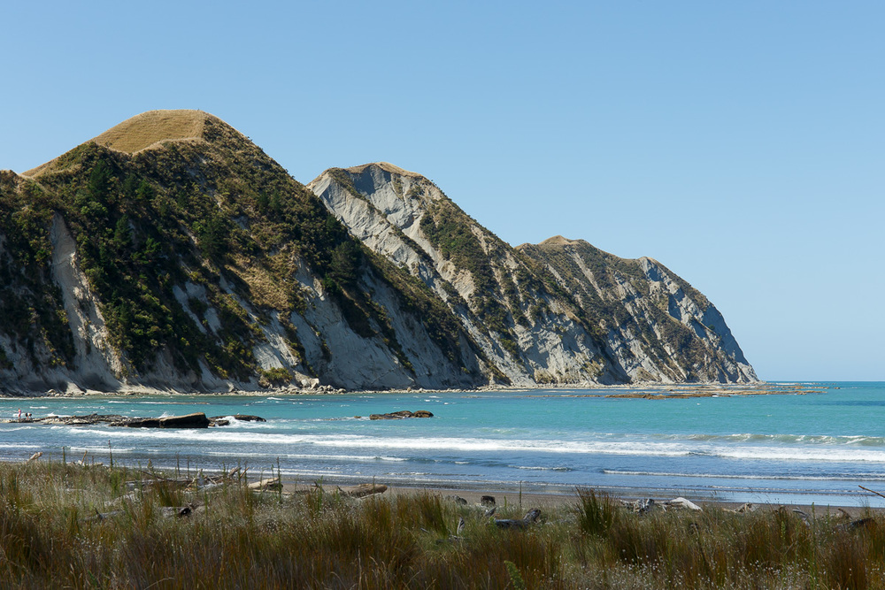 Rugged terrain at Tolaga Bay, northeast of Gisborne.