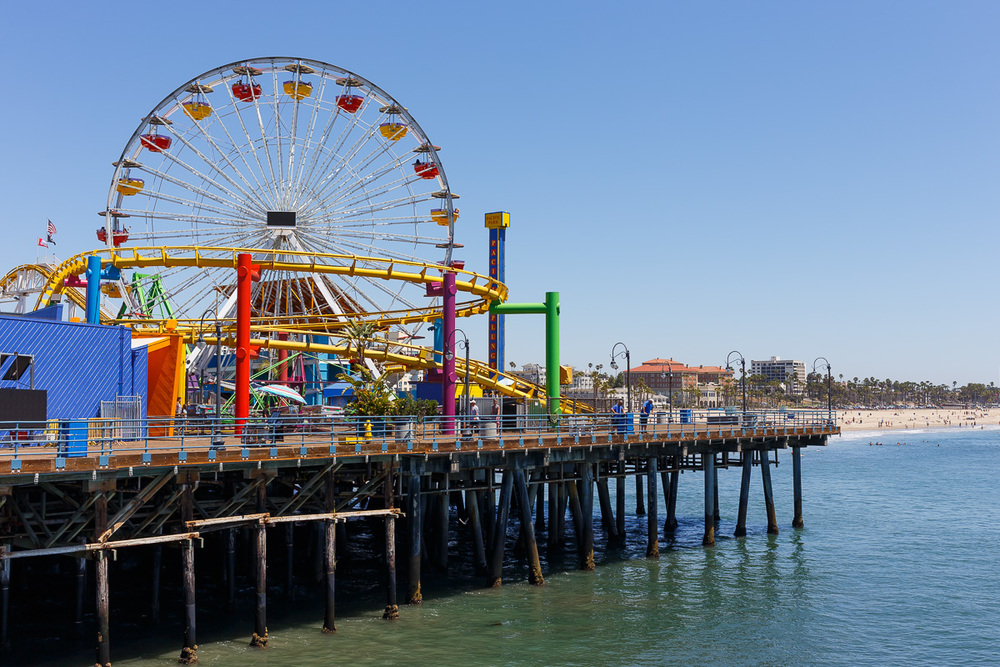 Santa Monica Pier, Los Angeles.