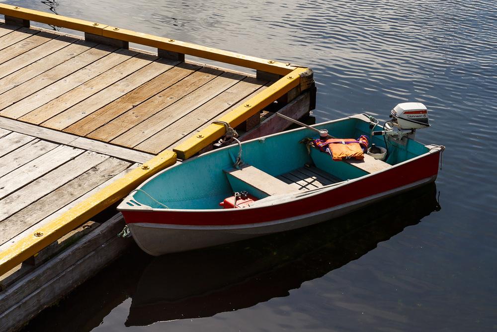 A small boat. Lund, BC, Canada.