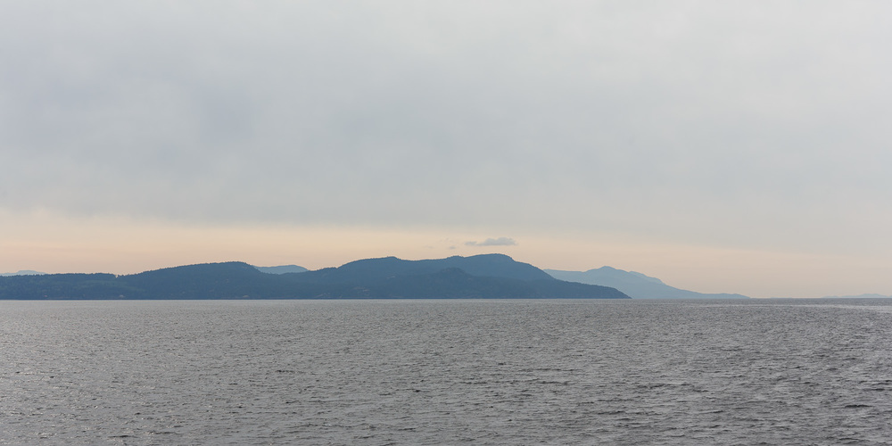 Looking toward Texada Island, half way between Powell River and Comox