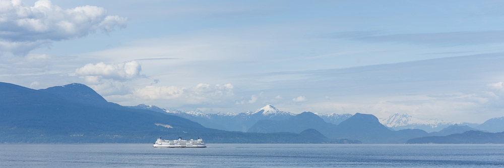 Passing another ferry as we head for Horseshoe Bay, near Vancouver BC.