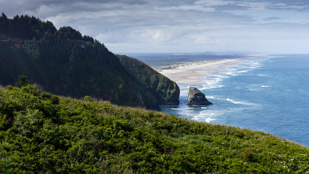 Sea Lion Caves, Oregon. Looking south.