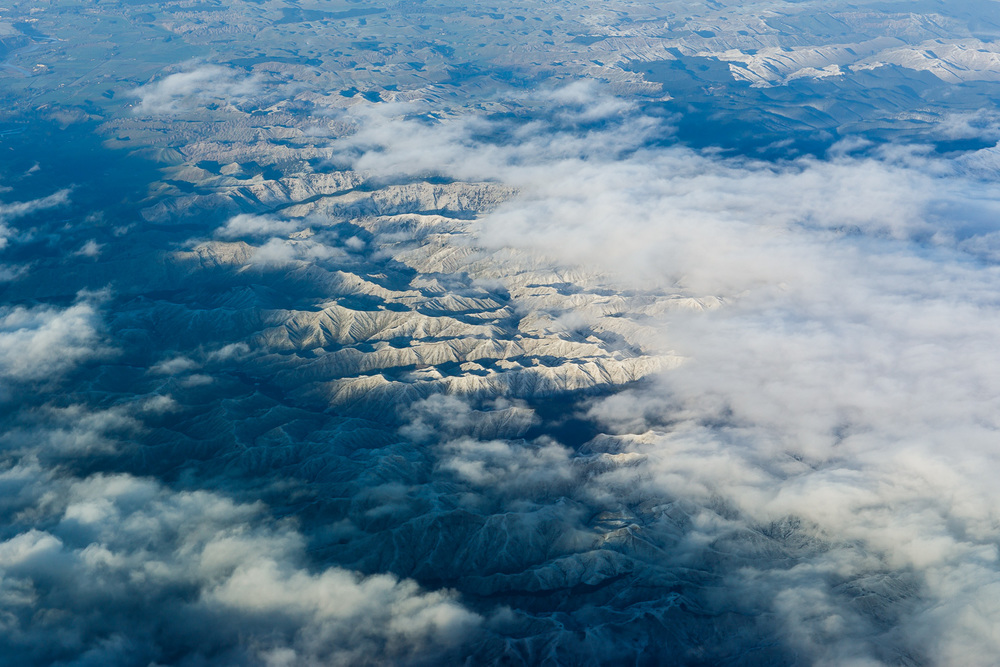 Snowy terrain near Taihape.