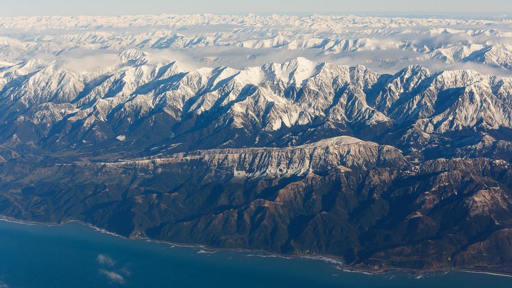 Kaikoura coastline.