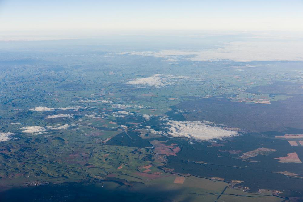 Overlooking Waiouru towards Wanganui.