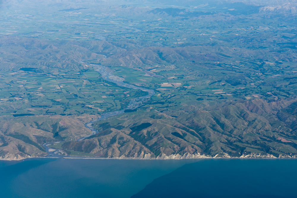 Coastline north of Christchurch.