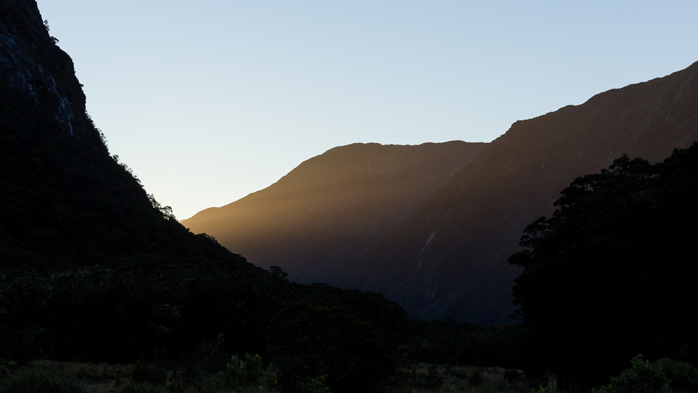 Early morning light at Milford Sound