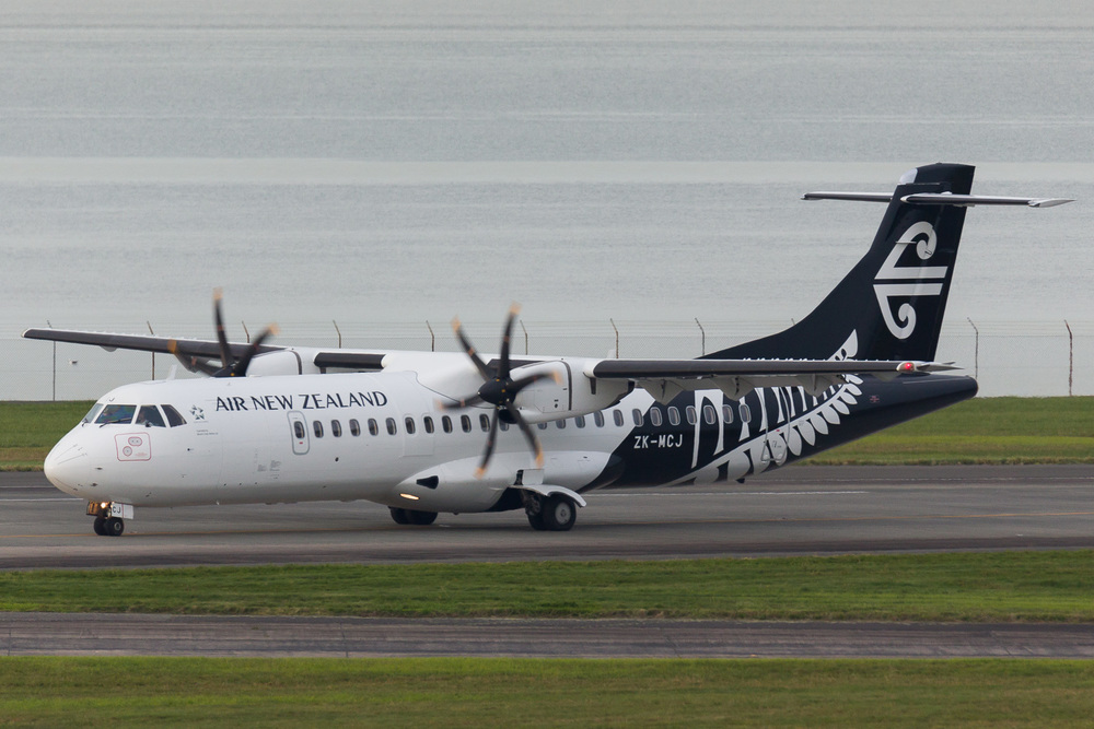 Mount Cook Airline ATR72-500 ZK-MCJ vacating 05R.
