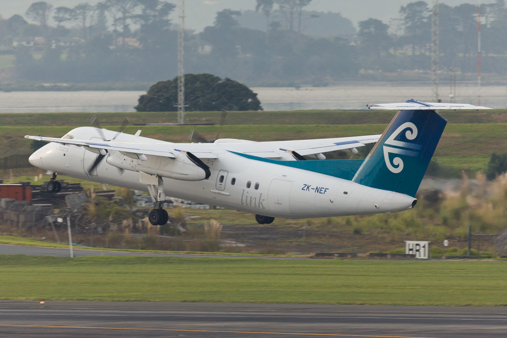 Air Nelson Dash 8 Q300 departing 05R