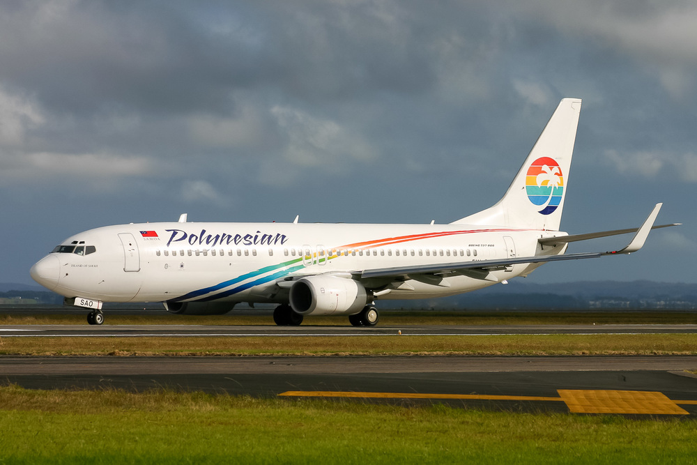 Boeing 737-800, 5W-SAO, NZAA