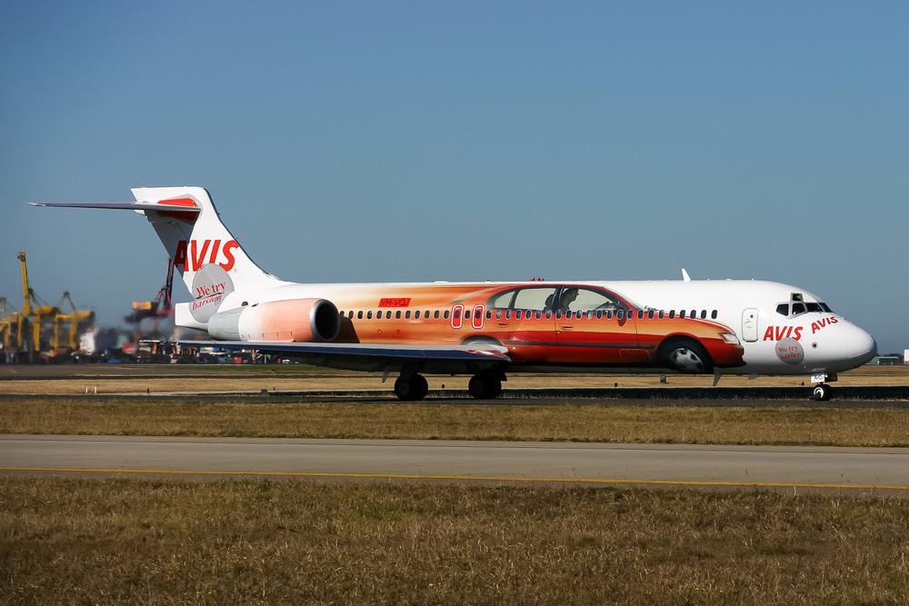 Boeing 717, VH-VQJ, YSSY