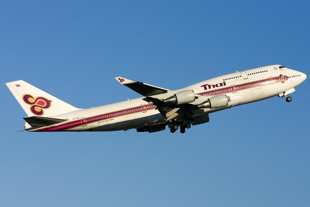 Boeing 747-400, HS-TGB, YSSY