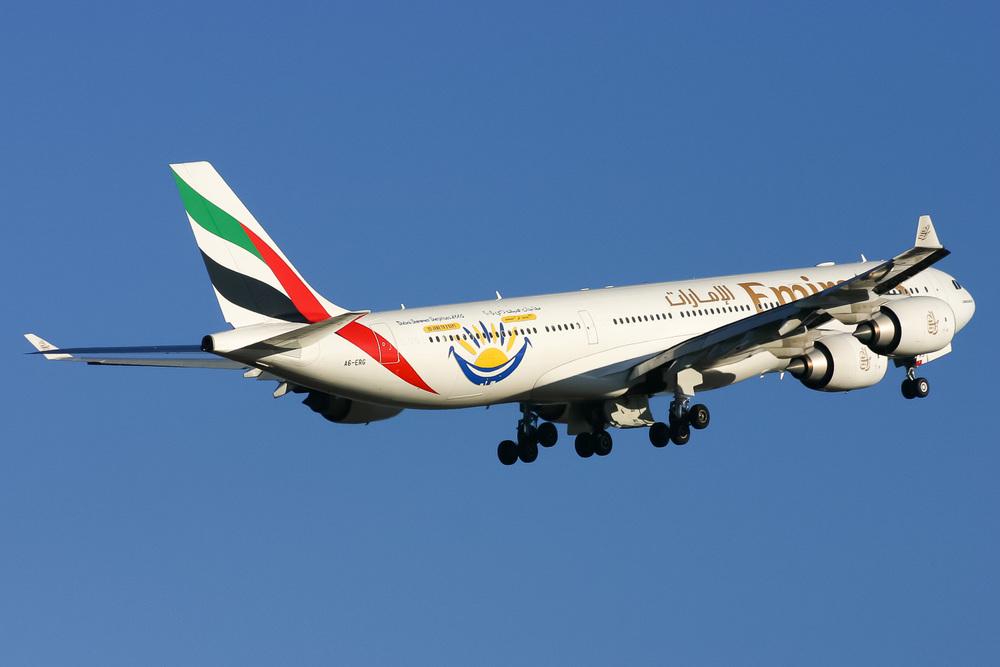 Airbus A340-500, A6-ERG, YSSY