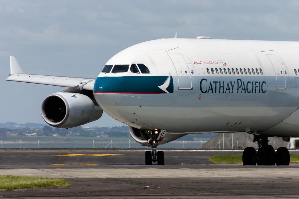 Airbus A340-300, B-HXF, NZAA