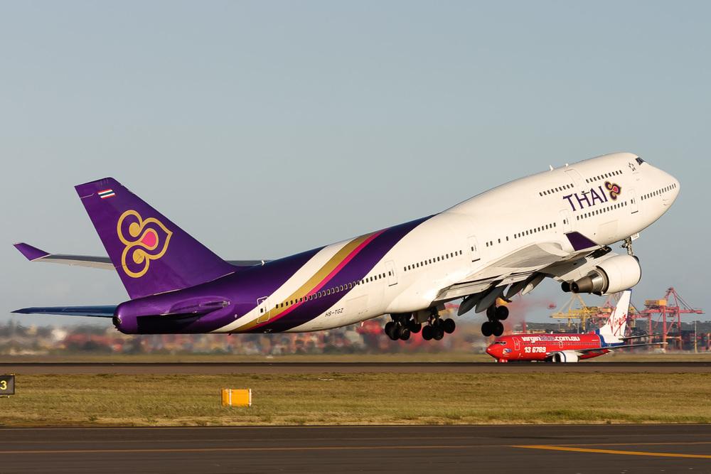 Boeing 747-400, HS-TGZ, YSSY