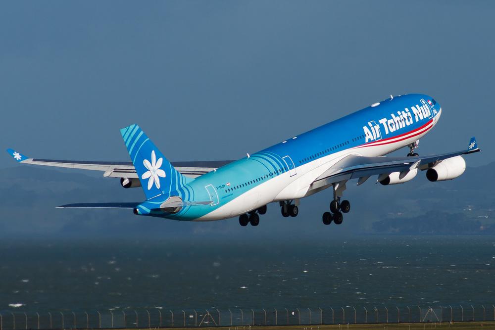 Airbus A340-300, F-OLOV, NZAA