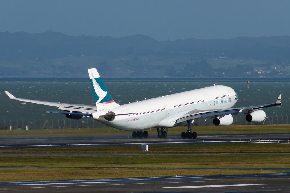 Airbus A340-300, B-HXJ, NZAA