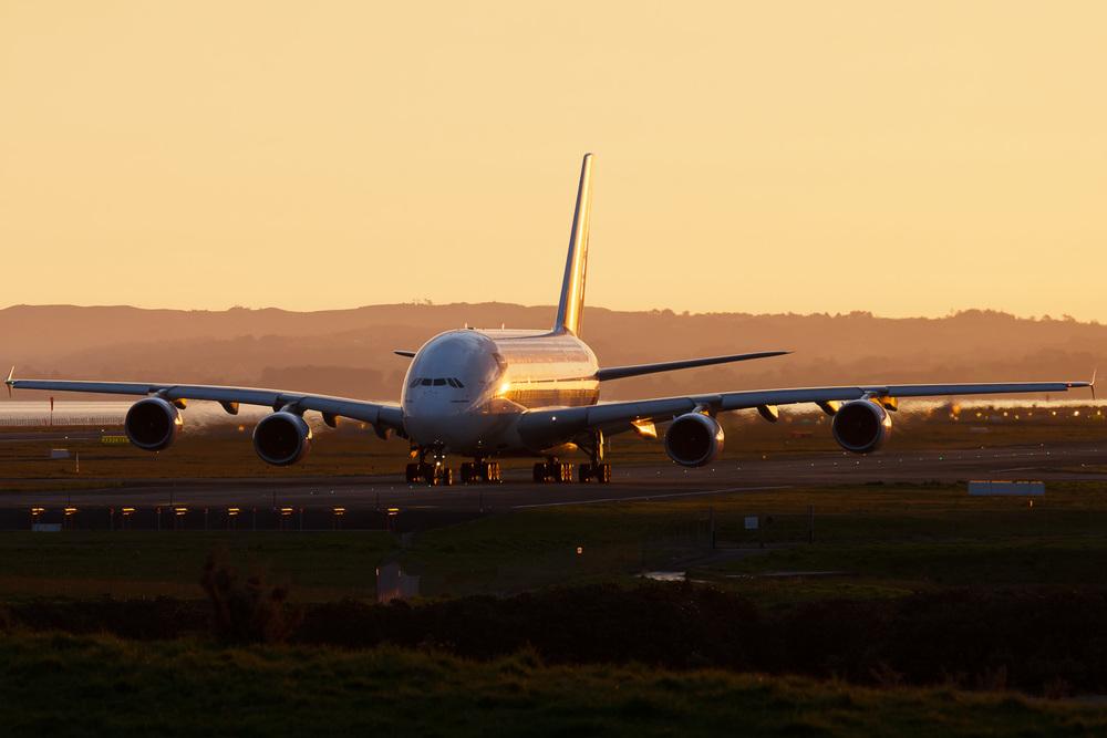 Airbus A380-800, A6-EDD, NZAA