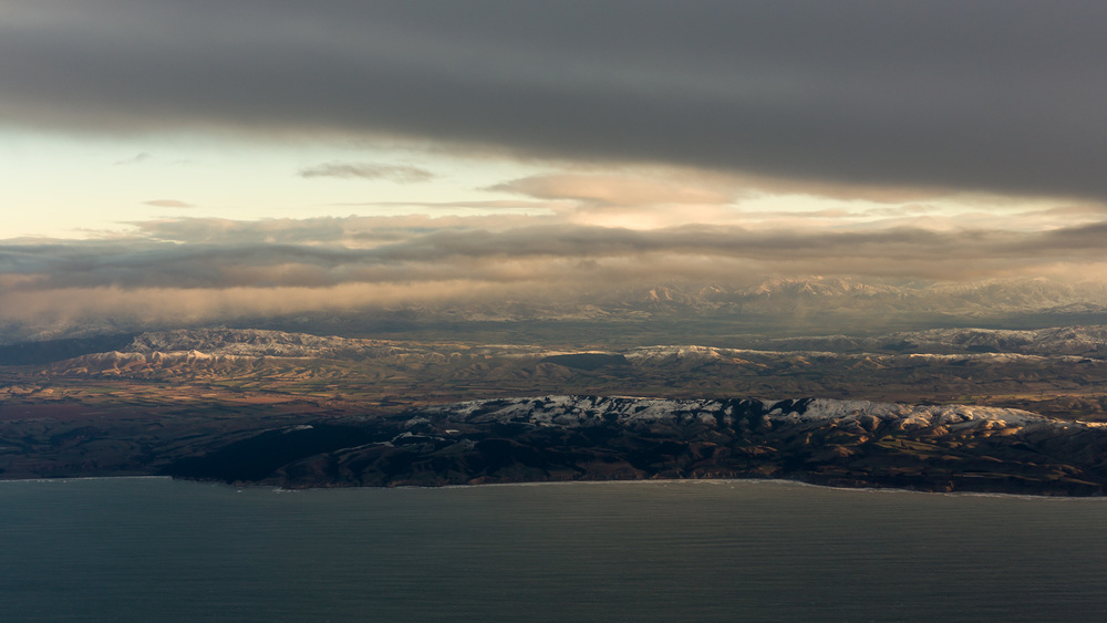 Canterbury coastline, north of Christchurch.