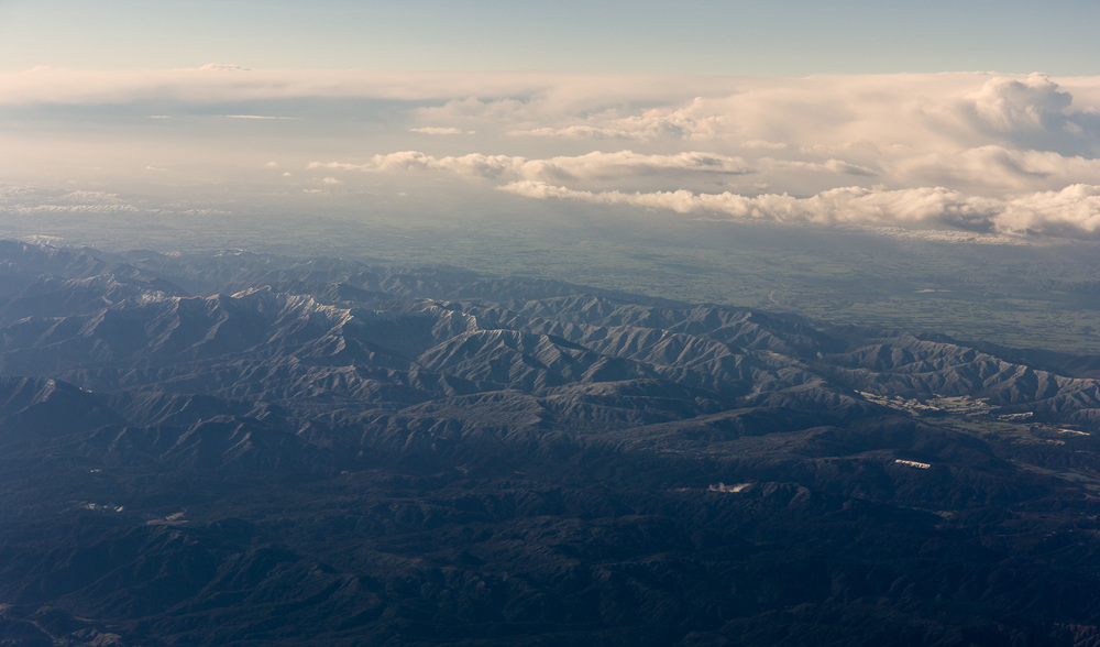 Mountain ranges north of Wellington.