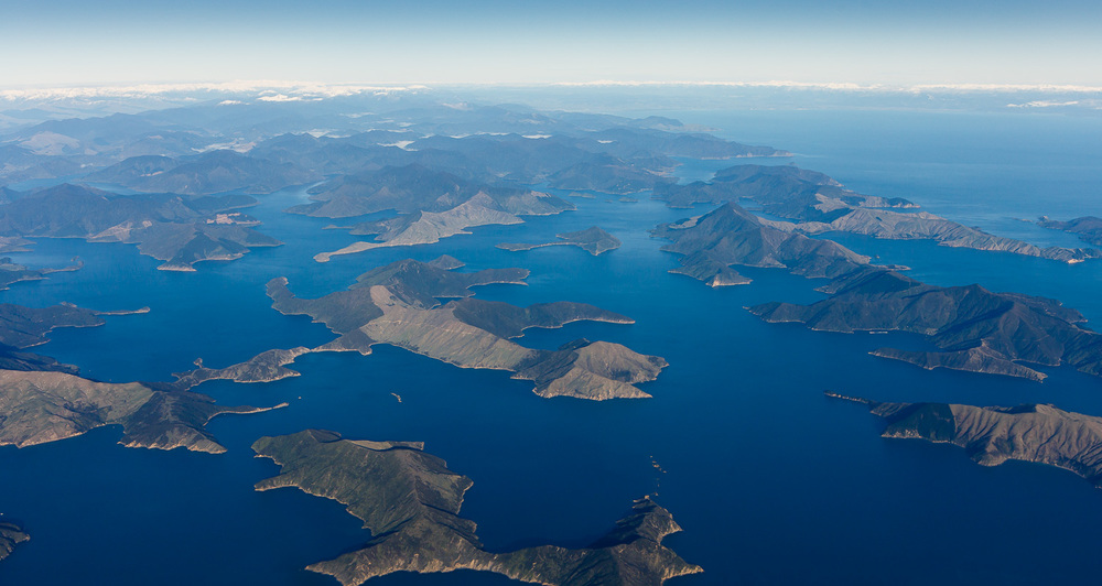The Marlborough Sounds, looking towards Tasman Bay