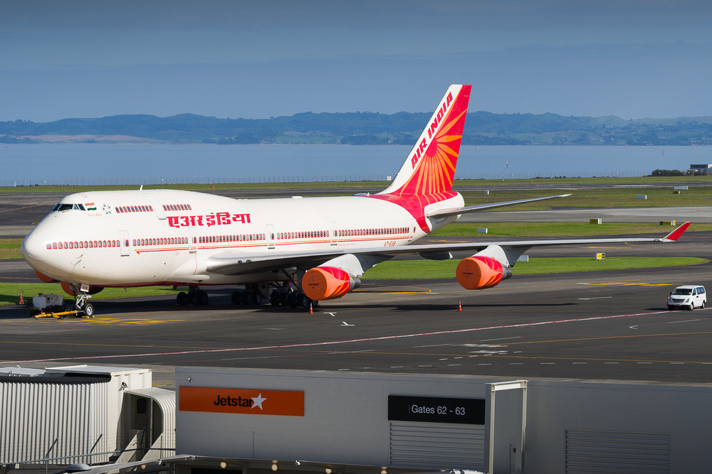 Air India Boeing 747-400 VT-EVB, VIP visit.