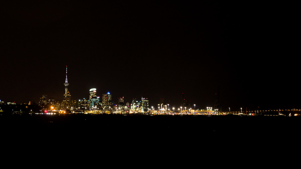 Auckland city from Orakei Wharf.